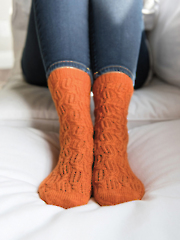 Blown Away Socks Knit Pattern