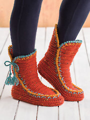 ANNIE'S SIGNATURE DESIGNS: Colorful Fall Boots Crochet Pattern
