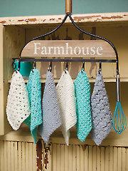 Farm House Dishcloths Crochet Pattern