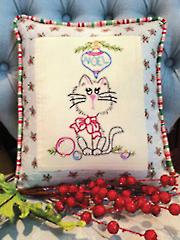 Naughty or Nice Embroidery Pillow Panel