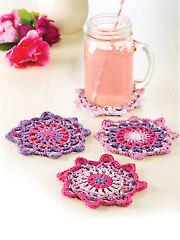 Mandala Coasters Crochet Pattern - Electronic Download AC04291
