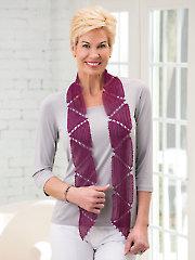 Georgiana Scarf Crochet Pattern - Electronic Download AC04293