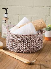 V-Stitch Basket Crochet Pattern - Electronic Download AC04306