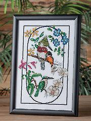 Exotic Birds & Flowers Cross Stitch Pattern