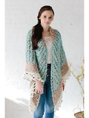Collage Triangle Shawl Knit Pattern