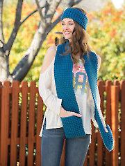 Tailgating Scarf & Ear Warmer Set Crochet Pattern