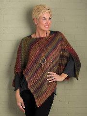 ANNIE'S SIGNATURE DESIGNS: Chamomile Poncho Knit Pattern