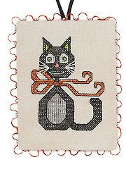 Black Cat Ornament Pattern