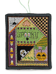 A Crazy Quilted Halloween Cross Stitch Pattern