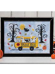 Ghoul Bus Cross Stitch Pattern
