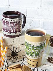 Bewitched Mug Wraps Cross Stitch Pattern