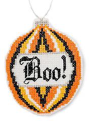 Boo & Eyeball Ornaments Cross Stitch Pattern