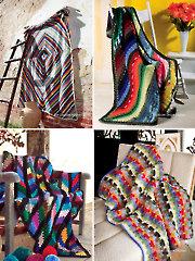 Colorful Scrap Afghans Crochet Pattern