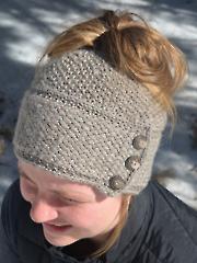 Ava Messy Bun Hat Knit Pattern