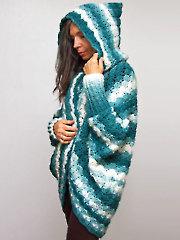 Moonlit Hooded Shrug Crochet Pattern