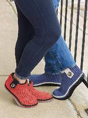 ANNIE'S SIGNATUE DESIGNS: Unisex Slippers Crochet Pattern