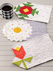 EXCLUSIVELY ANNIE'S QUILT DESIGNS: Floral Mug Rugs Pattern
