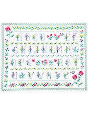 Floral Alphabet Cross Stitch Pattern
