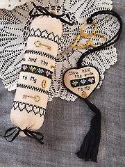 Key to My Heart Needleroll & Scissors Fob Cross Stitch Pattern