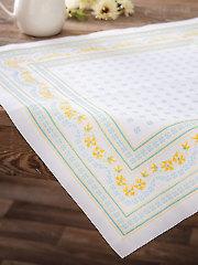 Romantic Floral Table Mat Cross Stitch Pattern