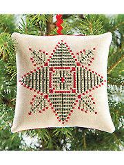 Evergreen Star Ornament Cross Stitch Pattern