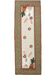 Carrot Tops Wall Hanging and Table Runner Pattern - April