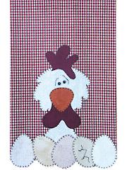Chicken Applique Quilt Pattern