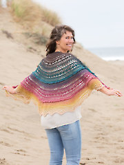 ANNIE'S SIGNATURE DESIGNS: Coral Sunset Shawl Crochet Pattern
