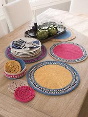 ANNIE'S SIGNATURE DESIGNS: Sun Flare Table Set Crochet Pattern