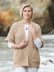 ANNIE'S SIGNATURE DESIGNS: Corner-to-Corner Cardi Crochet Pattern