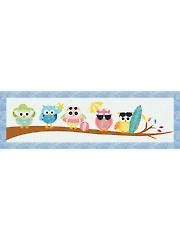 Beach Owls Table Runner Pattern