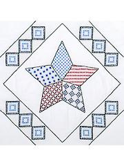 Interlocking Star White 18
