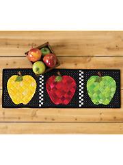 Patchwork Accent Table Runner Pattern - Apples - September