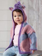 Purple Pony Cardigan Knit Pattern