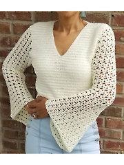 Bell Sleeve Top Crochet Pattern
