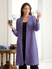 Lacy Lavender Coat Crochet Pattern