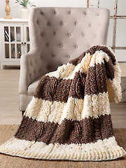 Banded Cable Throw Crochet Pattern