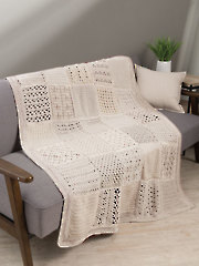 Stitch Sampler Afghan Crochet Pattern