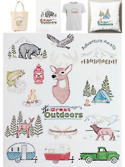 Great Outdoors Iron-On Embroidery Patterns