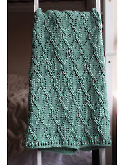 Aran Green Cables Blanket Crochet Pattern