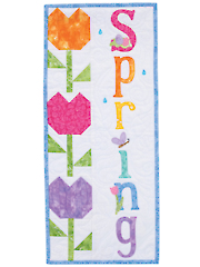 A Year in Words Wall Hangings - Spring - April Pattern