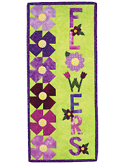 A Year in Words Wall Hangings - Flowers - May Pattern