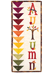 A Year in Words Wall Hangings - Autumn - September Pattern