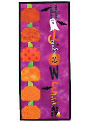 A Year in Words Wall Hangings - Halloween - October Pattern