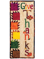 A Year in Words Wall Hangings - Give Thanks - November Pattern