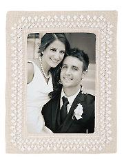 Beaded Whitework Wedding Frame