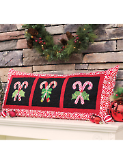 Candy Cane Bench Pillow Quilt Pattern