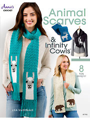 Animal Scarves & Infinity Cowls Crochet Pattern Book