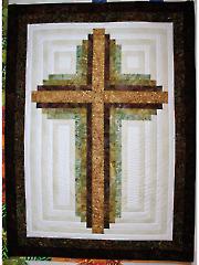 Log Cabin Christian Cross Wall Hanging Pattern