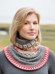 ANNIE'S SIGNATURE DESIGNS: Fair Isle Gansey Crochet Cowl Pattern